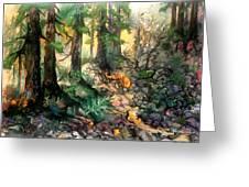 Moring Hike Greeting Card