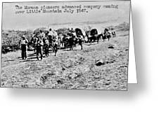 Mormon Pioneers Greeting Card by Benjamin Yeager