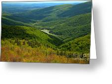 Moormans River Overlook In Spring Greeting Card