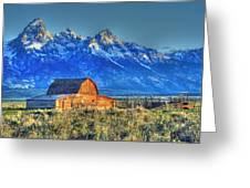 Mormon Row At Sunrise Greeting Card