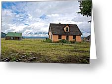 Mormon Row Historic District In Grand Tetons National Park-wyoming Greeting Card