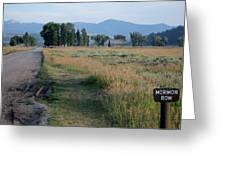 Mormon Row Road Greeting Card