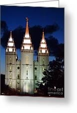 Mormon Temple Lds Utah Greeting Card