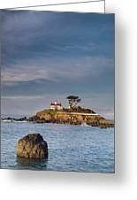 Morning At Battery Point Lighthouse Greeting Card