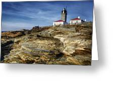 Morning At Beavertail Lighthouse Greeting Card