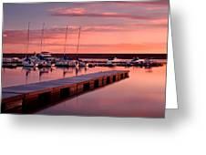 Morning At Chatfield Marina Greeting Card