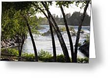 Morning At Idaho Falls Greeting Card