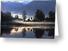 Morning At Lake Matheson Greeting Card