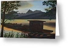 Morning At Lake Mcdonald Glacier Park Greeting Card