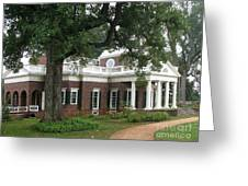 Morning At Monticello Greeting Card