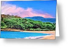 Morning At Papohaku Beach  Greeting Card
