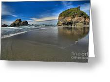 Morning Beach Reflections Greeting Card