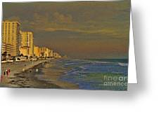 Morning Beach Walk Greeting Card
