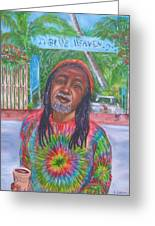 Morning Coffee At Blue Heaven Greeting Card