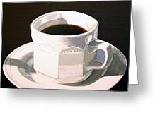 Morning Coffee At Lou's Cafe Greeting Card