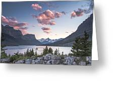 Morning Colors On The Lake Greeting Card