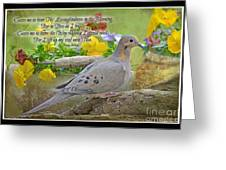 Morning Dove With Verse Greeting Card