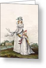 Morning Dresses, Fig. 63 & Fig. 64 Greeting Card
