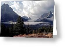Morning East Glacier Park Greeting Card