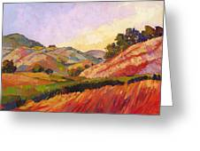 Morning Fields Greeting Card by Erin Hanson