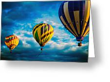 Morning Flight Hot Air Balloons Greeting Card