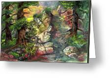 Morning Forest Hike Greeting Card