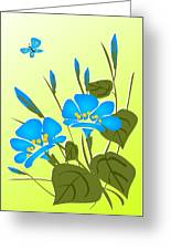 Morning Glory Greeting Card