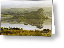 Morning Haze On Lough Bofin Greeting Card