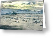Morning Ice Flow Greeting Card
