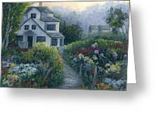 Morning In A Maine Garden Greeting Card