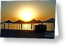 Morning In Greece Greeting Card