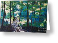 Morning Sunshine In Park Forest Greeting Card