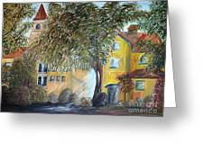 Morning In The Old Country Greeting Card by Eloise Schneider