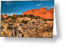 Morning Light At Garden Of The Gods Greeting Card