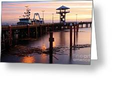 Morning Light At Port Angeles Greeting Card