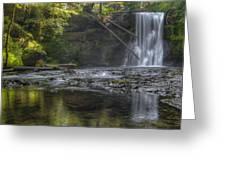 Morning Light At Upper North Falls Greeting Card