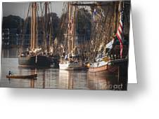 Morning Light - Chestertown Downrigging Weekend Greeting Card by Lauren Brice