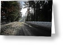 Morning Light On The Road Greeting Card