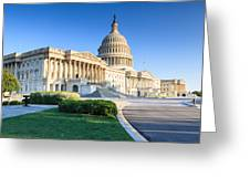 Powerful - Washington Dc Morning Light On Us Capitol Greeting Card