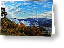 Morning Mist On An Autumn Morning Greeting Card