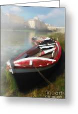 Morning Mist On The Arno River Italy Greeting Card