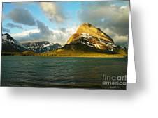 Morning Mountains At Many Glacier Greeting Card