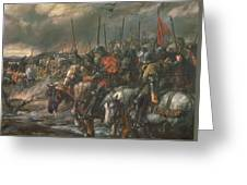 Morning Of The Battle Of Agincourt, 25th October 1415, 1884 Oil On Canvas Greeting Card