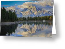 Morning On Colter Bay Greeting Card