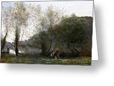 Morning On The Estuary. Ville D Avray Greeting Card