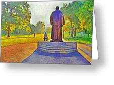 The William Oxley Thompson Statue. The Ohio State University Greeting Card