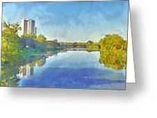 Towers On The Olentangy. The Ohio State University Greeting Card