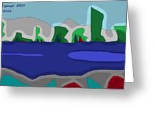 Morning On The Fraser River Near Maple Ridge Greeting Card