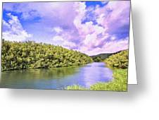 Morning On The Hanalei River Greeting Card