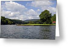 Morning On The Lake Greeting Card by Susan Leggett